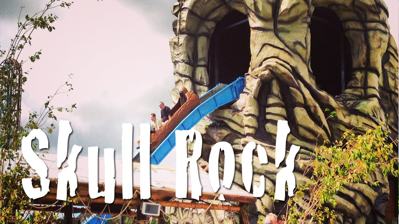 Skull rock log flume oakwood theme park onride pov new The oakwood