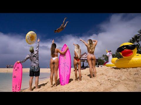 HUGE SLIP 'N SLIDE AT THE BEACH!