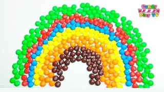 Learn Colors with Rainbow M&M's   Learning Colours with M&M Learning colors on a rainbow