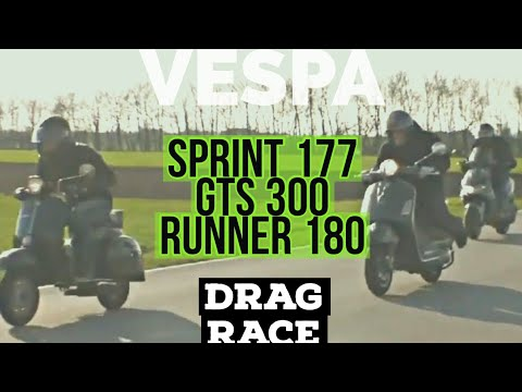 Race VESPA GTS 300 Vs RUNNER 180 Vs SUPER 177