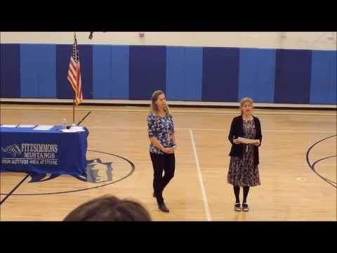 Fitzsimmons Middle School Pride Awards 10 21 16, Bailey Colorado