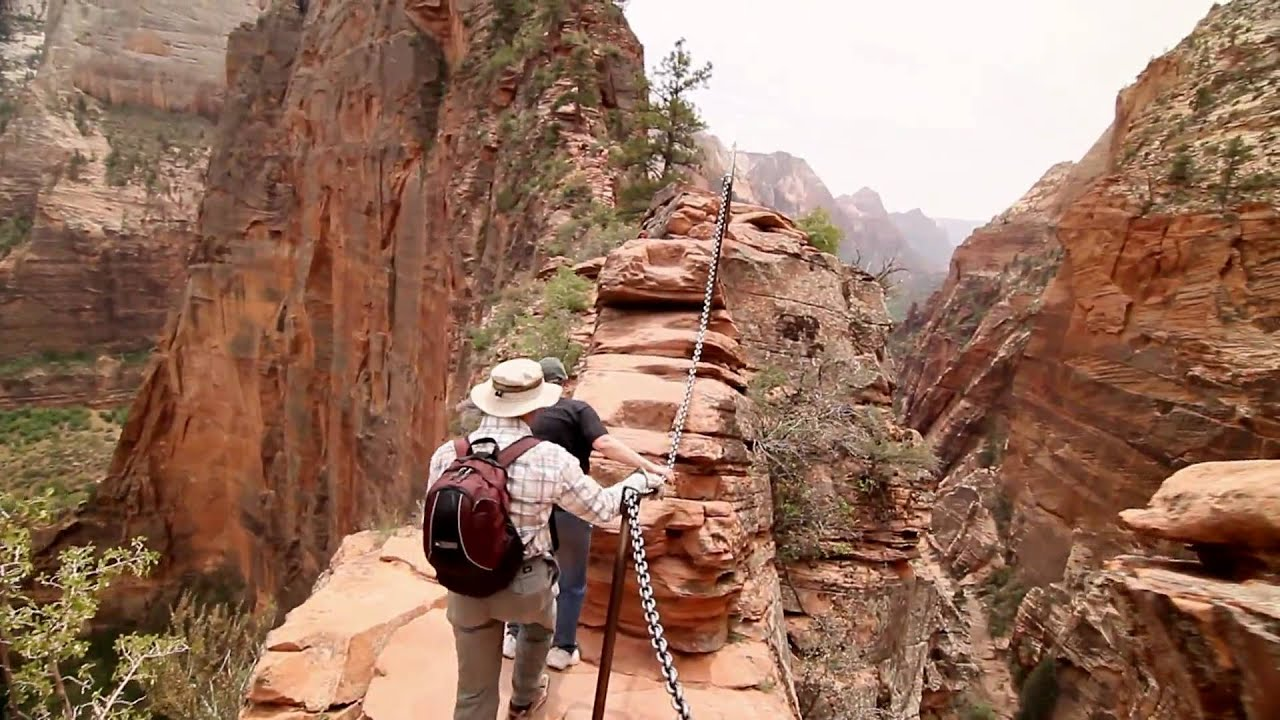 Angel Falls Wallpaper Extreme Hiking Angels Landing With The 7d Youtube