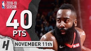 James Harden Full Highlights Rockets vs Pacers 2018.11.11 - 40 Pts, 9 Ast, 7 Rebounds!