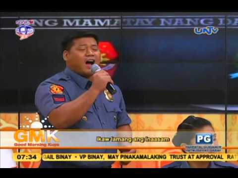 Narito (Ang Puso Ko) Gary Valenciano - Singing Police Officer  Cover on GMK