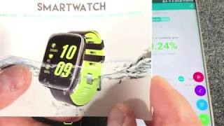 MindKoo Waterproof Smart Watches,TeckEpic IP68 Waterproof for Swimming Bluetooth Heart Rate Monitor