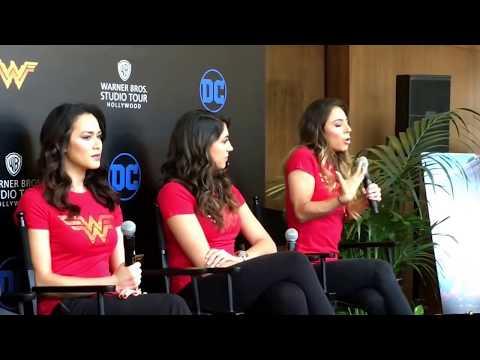 WB Hollywood Tours Wonder Woman Exhibit Samantha Jo Talks Amazon Beach at Media Event 2017