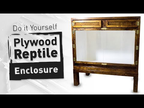 DIY Plywood Reptile Enclosure (Large Version)