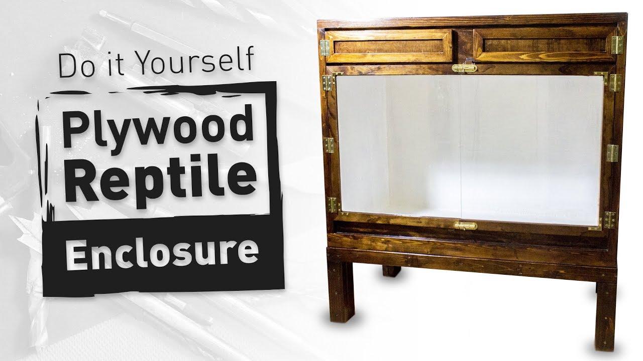 Diy Plywood Reptile Enclosure Large Version Youtube