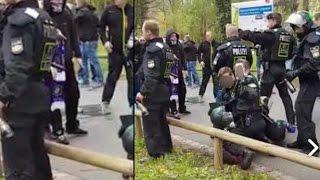 Nürnberg: Prügeln hemmungslos auf Fußballfan