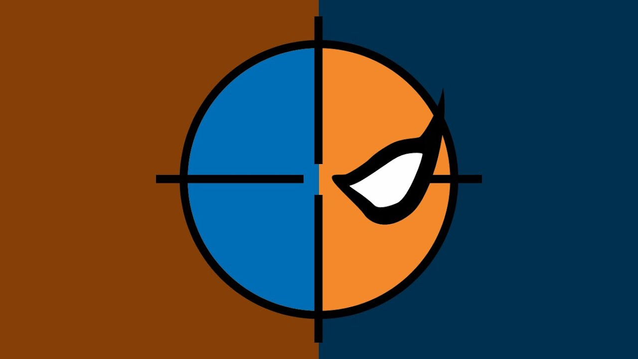11)Painted DeathStroke SYMBOL On Wall!!!