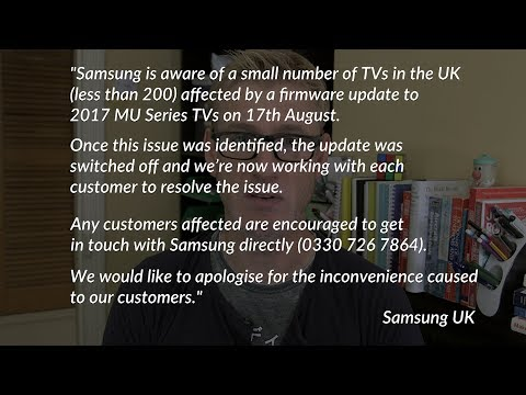 Did Your Samsung Smart TV Just Die From A Software Update? Samsung Responds