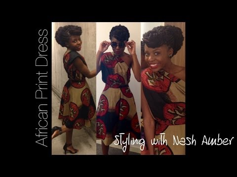 How to Style An African Print Skirt into A Dress