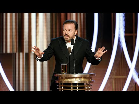 video: Ricky Gervais jokes about Prince Andrew as host takes aim at Hollywood at Golden Globes