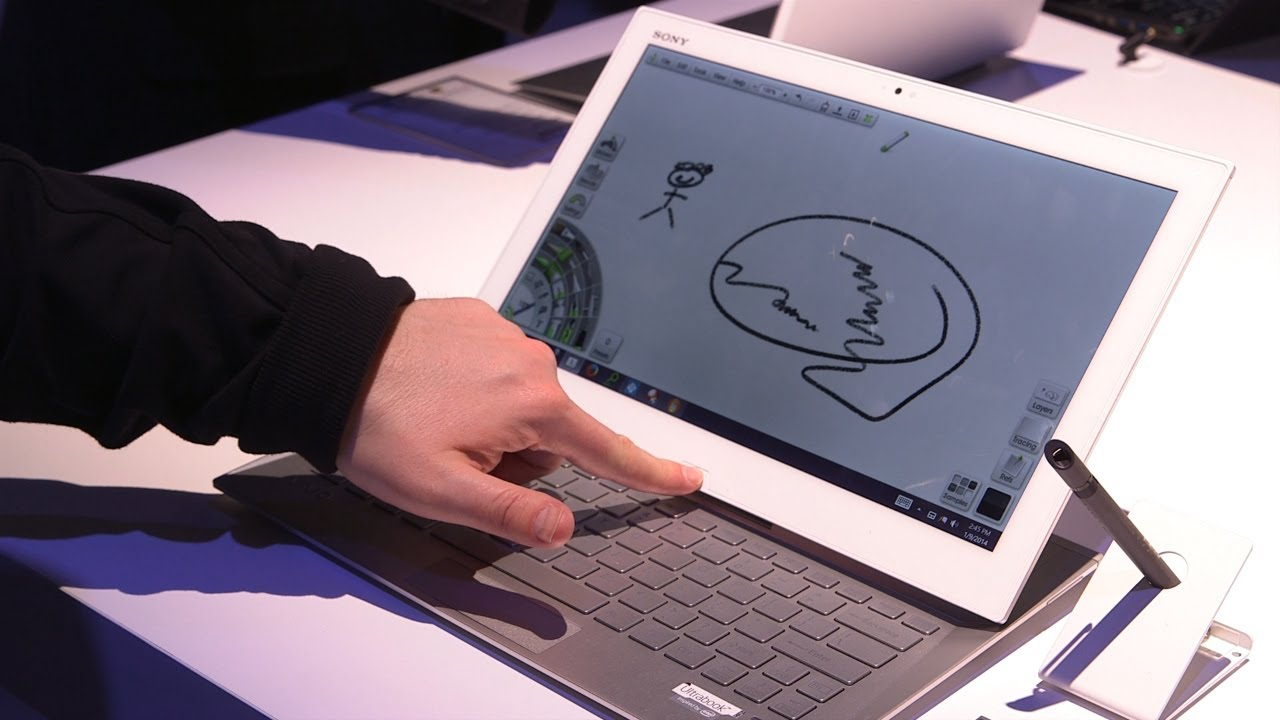 Sony Vaio Duo 13 Hands On - CES 2014
