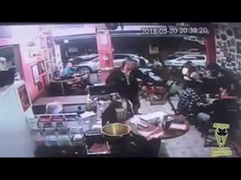 Defender Smoke Checks Robber in Restaurant | Active Self Protection