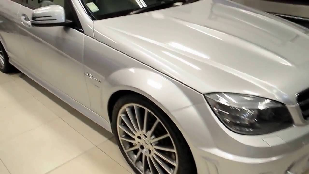Car Wrap Gloss White Aluminium Mercedes Benz C63 Amg By