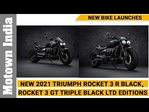 New  2021 Rocket 3 R Black, Rocket 3 GT Triple Black Limited Editions