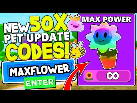 INFINITE FLOWER CURRENCY 50X PET CODES IN LAWN MOWING SIMULATOR! Roblox