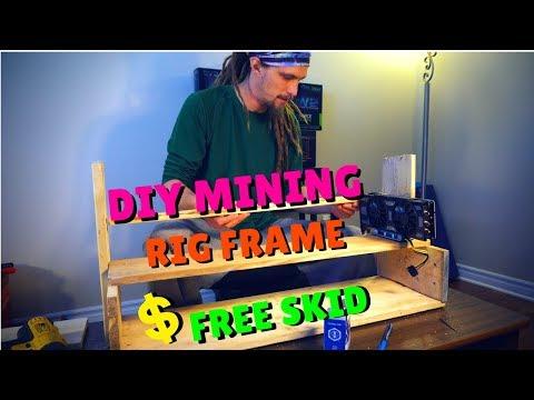 DIY Mining Rig Frame [One Old Skid Turns into Mining Rig Frame]