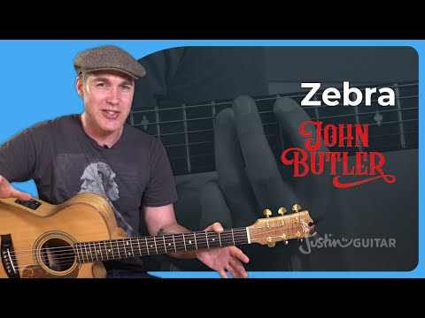 How to play Zebra by John Butler - Guitar Lesson Tutorial Aussie Rock Classic SB-504