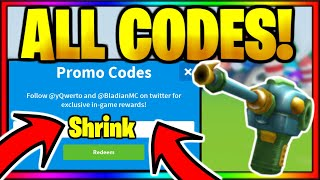 *ALL* OP WORKING BETA CODES! Roblox Shrink Ray Simulator