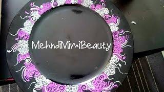Diy Henna tray plate, thali mehndi..plateau