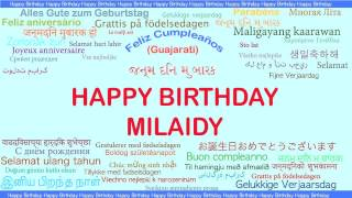 Milaidy   Languages Idiomas - Happy Birthday