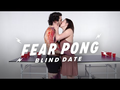 Blind Dates Play Fear Pong (Elias vs. Micaela)   Fear Pong   Cut