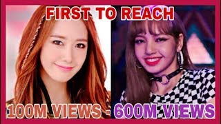 THE FIRST KPOP GROUPS MUSIC VIDEOS TO REACH 100 TO 600 MILLION VIEWS MP3