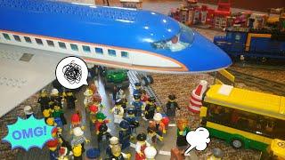 Что случилось в ЛЕГО СИТИ?Тима СТРОИТ ЛЕГО самолет и АЭРОПОРТ! LEGO CITY 60104 Airport Terminal