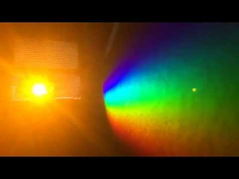 Sunlight through a prism (aka electromagnetic radiation in the visible spectrum)