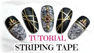 TUTORIAL | HOW TO APPLY STRIPING TAPE (AND LACE GEL) | GEL NAIL ART
