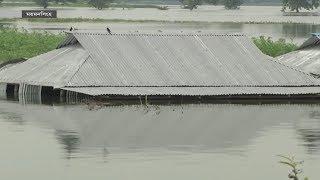 ময়মনসিংহে বাঁধ ভেঙে ১০ গ্রামের মানুষ পানিবন্দি! | Flood In Bangladesh | Somoy TV