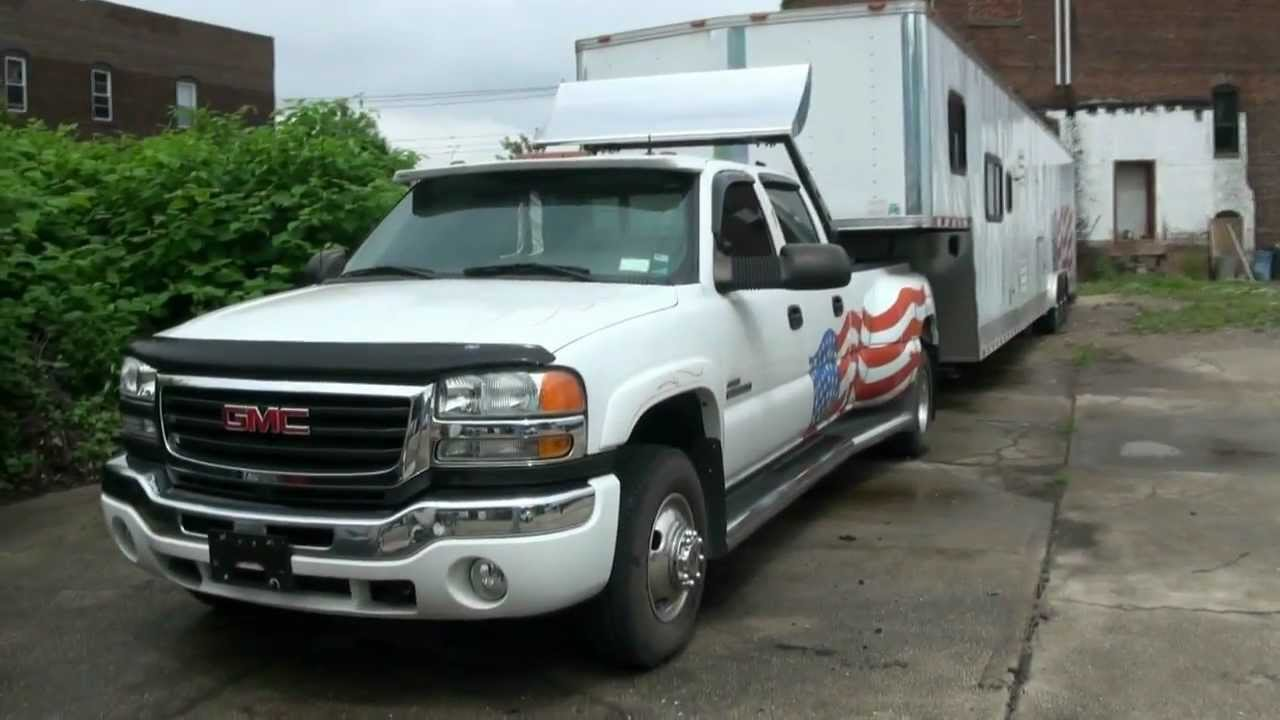 2003 gmc sierra 3500 sle crew cab 4wd dually diesel youtube. Black Bedroom Furniture Sets. Home Design Ideas