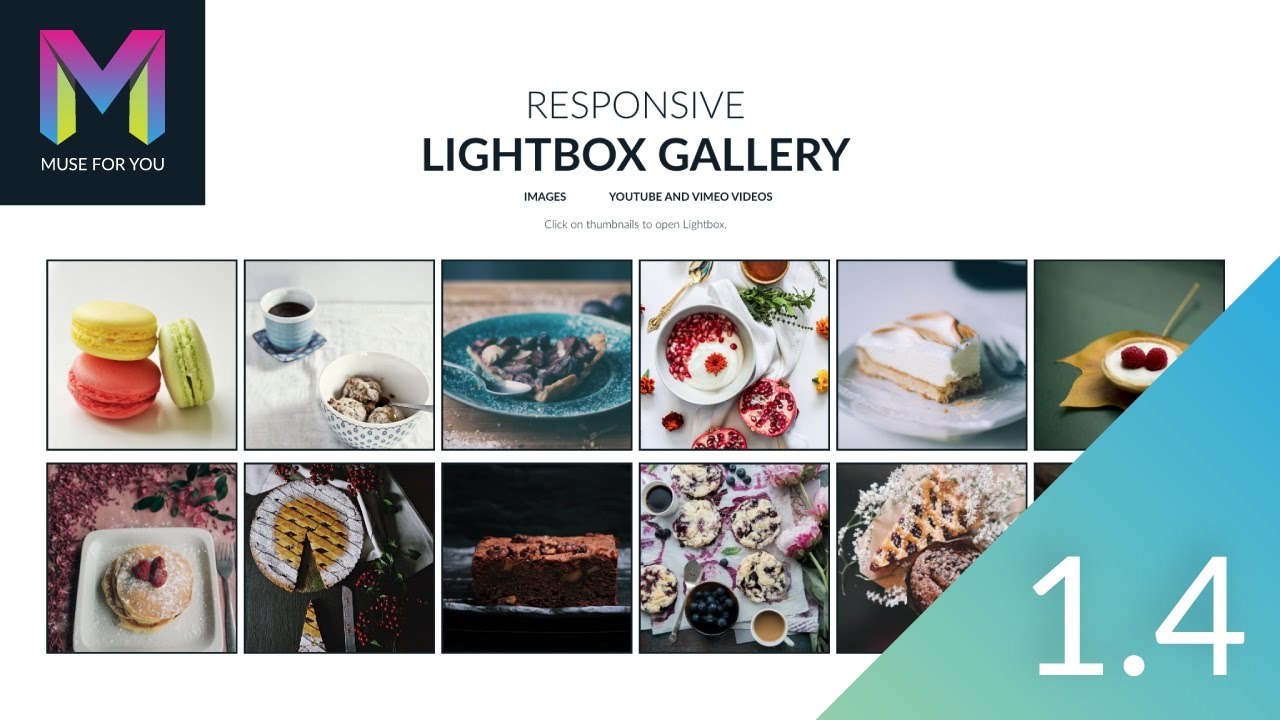 Responsive Lightbox Gallery Widget 1 4 Update | Adobe Muse CC | Muse For You