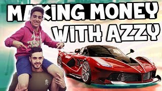 MAKING MONEY WITH AZZY! (CS:GO - Gambling)