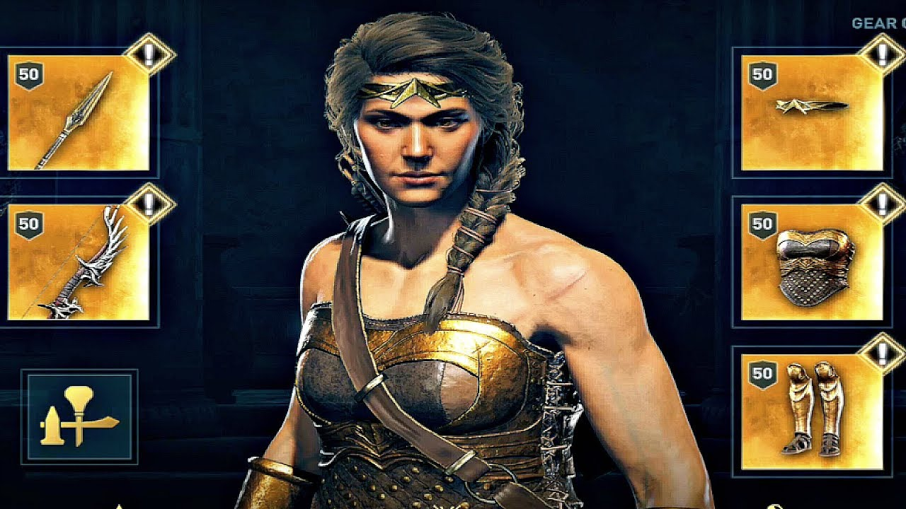 Assassin S Creed Odyssey How To Get Wonder Woman Armor Legendary Location Gameplay Youtube