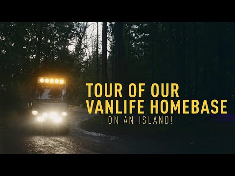 Tour Of Our New VanLife Home Base! (We Live On An Island!)