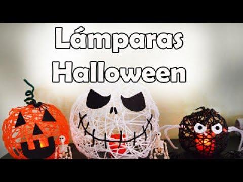 Lámparas De Hilo Para Halloween - YouTube