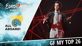 Eurovision 2018 | My Top 26 of Grand Final