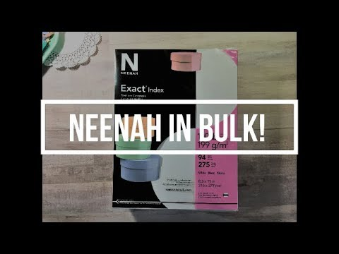 Neenah Cardstock In BULK! // Affordable // Craft Shows