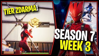 WHERE is the SECOND FREE TIER FOR SEASON 7 (Week 3)-Fortnite Battle Royale CZ/SK