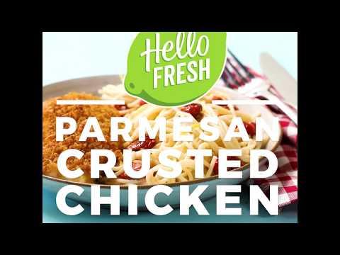 Parmesan-Crusted Chicken with Creamy Lemon Tomato Spaghetti