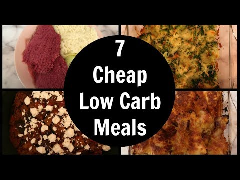 7 Cheap Low Carb Meals | Easy Keto Diet Dinner Ideas For The Week