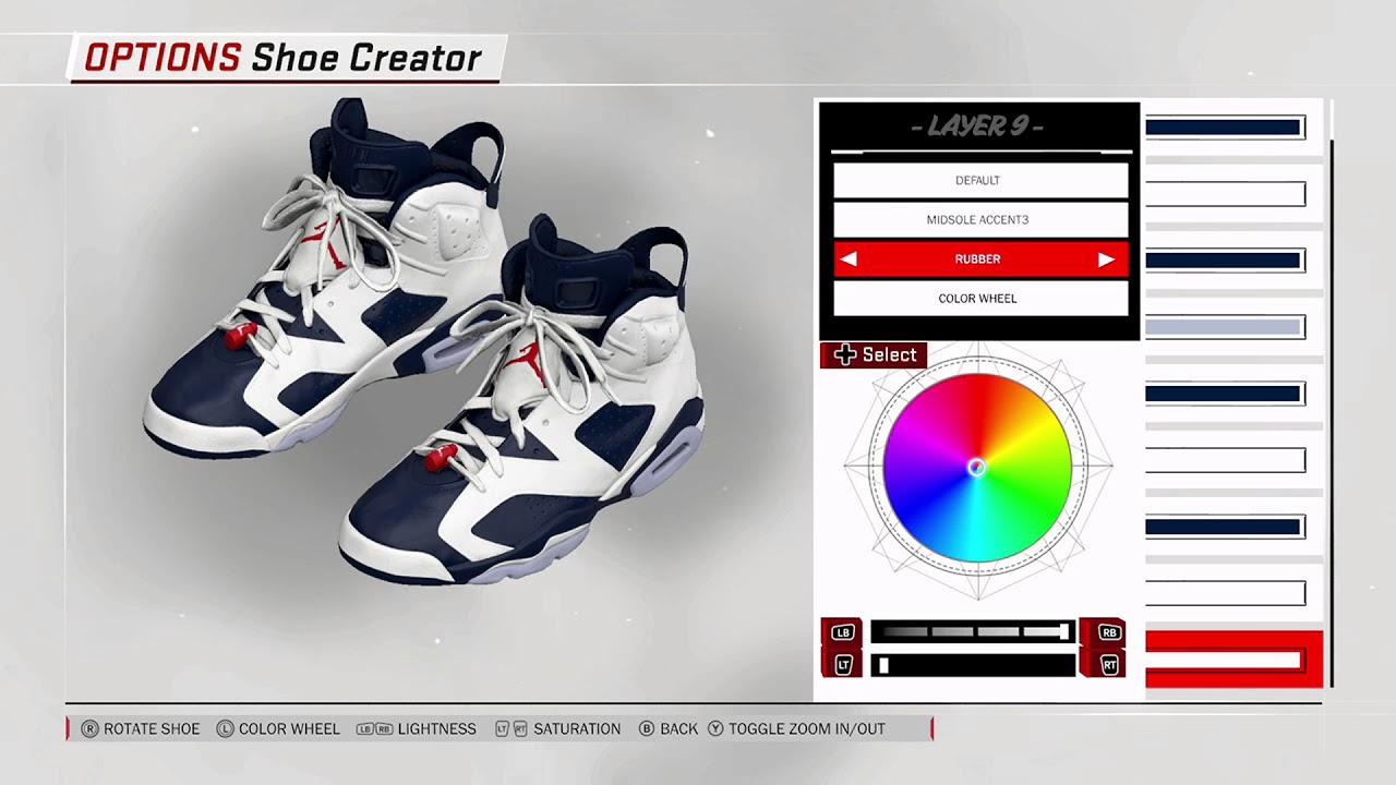 45fe70730fdf NBA 2K18 Shoe Creator - Air Jordan 6