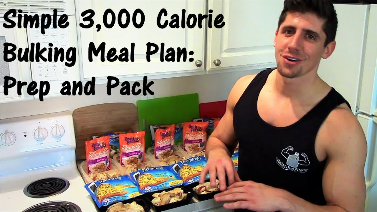Simple 3,000 Calorie Bulking Meal Plan: Prep and Pack