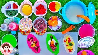 ละครสั้น เจ๊เปิดร้านขายขนมโตเกียวหลากสี Cooking Play Doh Food Toyset