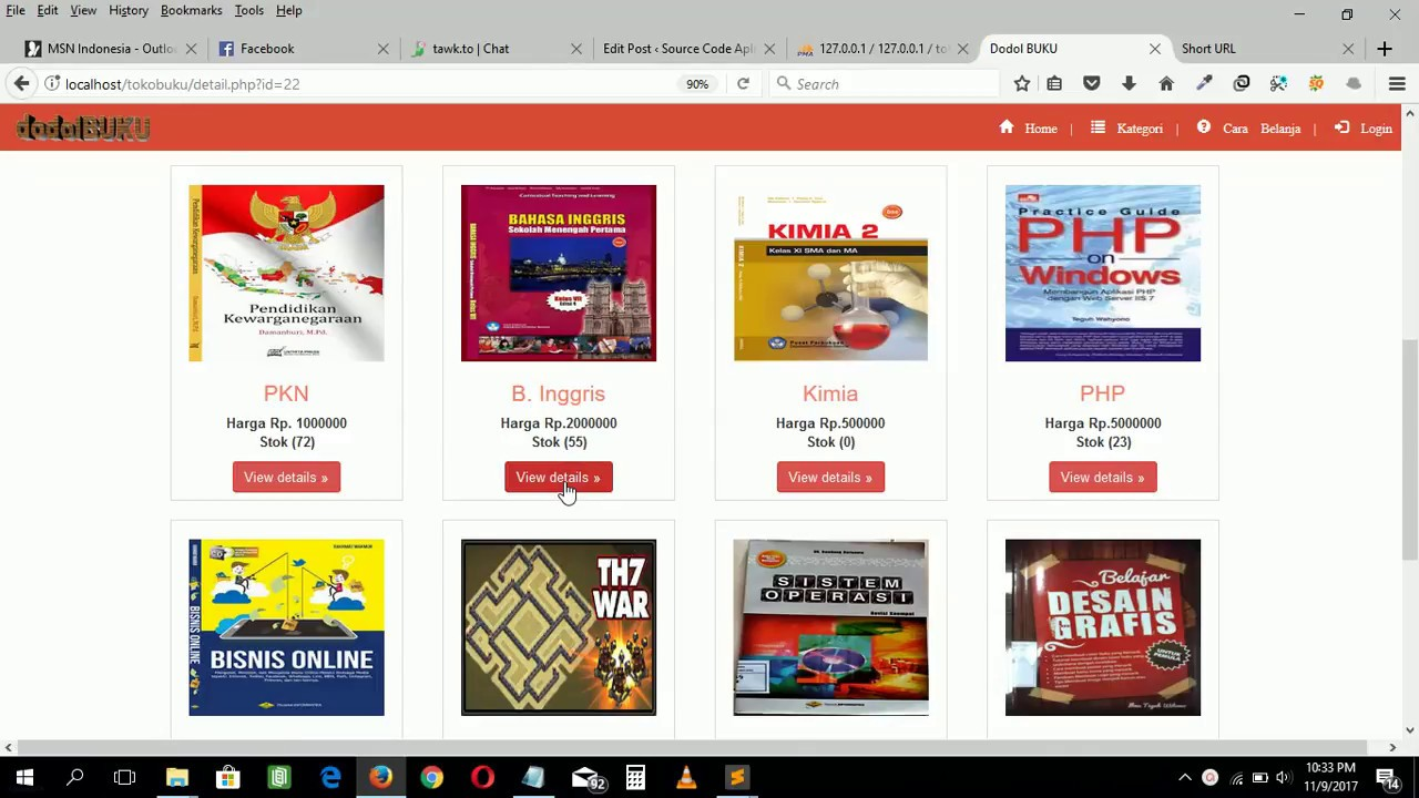 Source code aplikasi toko buku berbasis php   mysql - YouTube 93299b9a78