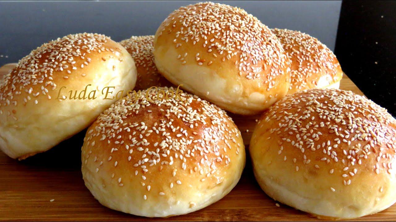 САМЫЕ ВКУСНЫЕ БУЛОЧКИ с КУНЖУТОМ для гамбургеров очень мягкие Hamburger Buns Burger Bun Bánh mì Tròn