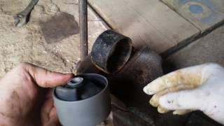 замена катриджа  передней подушки двигателя  mazda demio dw3w